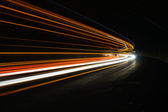 Interesting and abstract lights in orange, red, yellow and white — Stock Photo