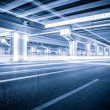 Light traces on traffic junctions at night — Stock Photo #55030151