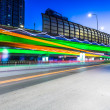 Light traces on traffic junctions at night — Stock Photo #55031075