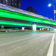 Light traces on traffic junctions at night — Stock Photo #55031347