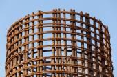 Stock rebar at construction — Stock Photo