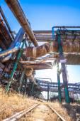 Heavy industry factory pipelines — Stock Photo