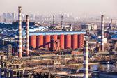 Chimney of heavy industry factory in Beijing — Stock Photo