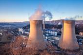 Cooling tower of heavy industry factory in Beijing — Stock Photo