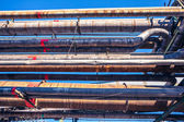 Heavy industry factory pipelines — Stock Photo