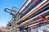 重工業工場のパイプライン — ストック写真