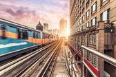 Sky train through the city center in Kuala Lumpur — Stock Photo