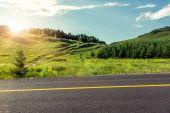 Straße in den bergen — Stockfoto
