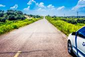 Road in grassland — Stock Photo