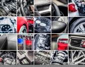 Car details collage — Stock Photo