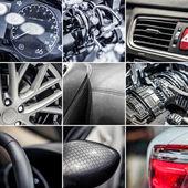 Bil detaljer collage — Stockfoto