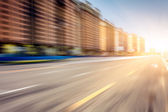 Motion blur of the road — Stock Photo
