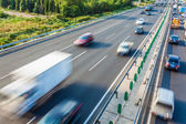 Cars in motion blur on highway,Beijing China — Стоковое фото
