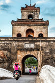 The palace gate, Imperial Palace moat, Vietnam — Stock Photo