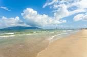 Blue sky and beach in vietnam — Foto de Stock