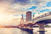 Bridge in the city,vietnam — Stock Photo