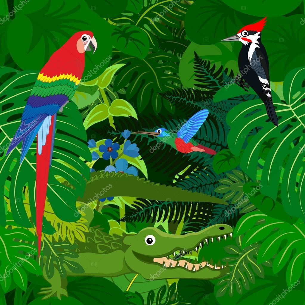 Jungle Background Clipart Regenwald Baum Vektorgrafiken