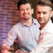 Men with whisky — Stock Photo #65385123