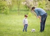 父亲和儿子 — 图库照片