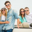 Friends in cabriolet — Stock Photo #79632436