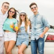 Friends in cabriolet — Stock Photo #79632462