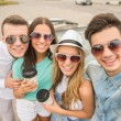 Friends in cabriolet — Stock Photo #79632470