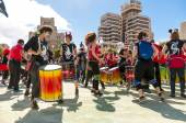 Group of drummers on carnival 2015 in Tenerife — Stock Photo