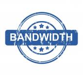 Bandwidth business concept stamp — Stock Photo