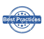 Best Practices business concept stamp — Stock Photo