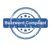Buzzword Compliant business concept stamp — Stock Photo