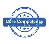 Core competency business concept stamp — Stock Photo