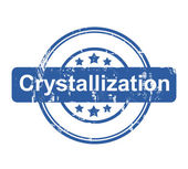 Crystallization business concept stamp — Stock Photo