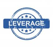 Leverage business concept stamp — Stock Photo