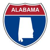 Alabama interstate highway shield — Stock Photo