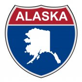 Alaska State interstate highway shield — Stock Photo