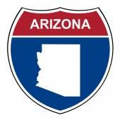 Arizona interstate highway shield — Stock Photo