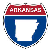 Arkansas interstate highway shield — Stock Photo