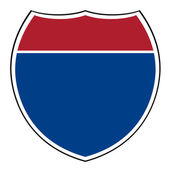 Blank interstate highway shield — Stock Photo