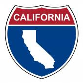 California interstate highway shield — Stock Photo