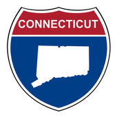Connecticut interstate highway shield — Stock Photo