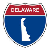 Delaware interstate highway shield — Stock Photo