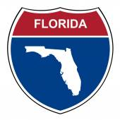 Florida interstate highway shield — Stock Photo