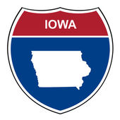 Iowa interstate highway shield — Stock Photo