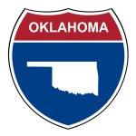 Oklahoma interstate highway shield — Stock Photo #71460377
