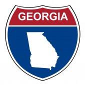 Georgia interstate highway shield — Stock Photo