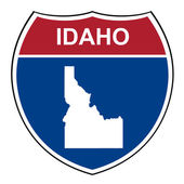 Idaho interstate highway shield — Stock Photo