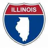 Illinois interstate highway shield — Stock Photo