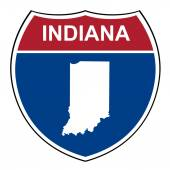 Indiana interstate highway shield — Stock Photo
