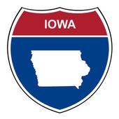 Iowa interstate highway shield — Stock Photo