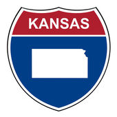 Kansas interstate highway shield — Stock Photo